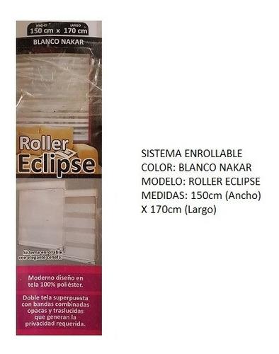 persiana roller eclipse marca scala 1,50cm x 170cm