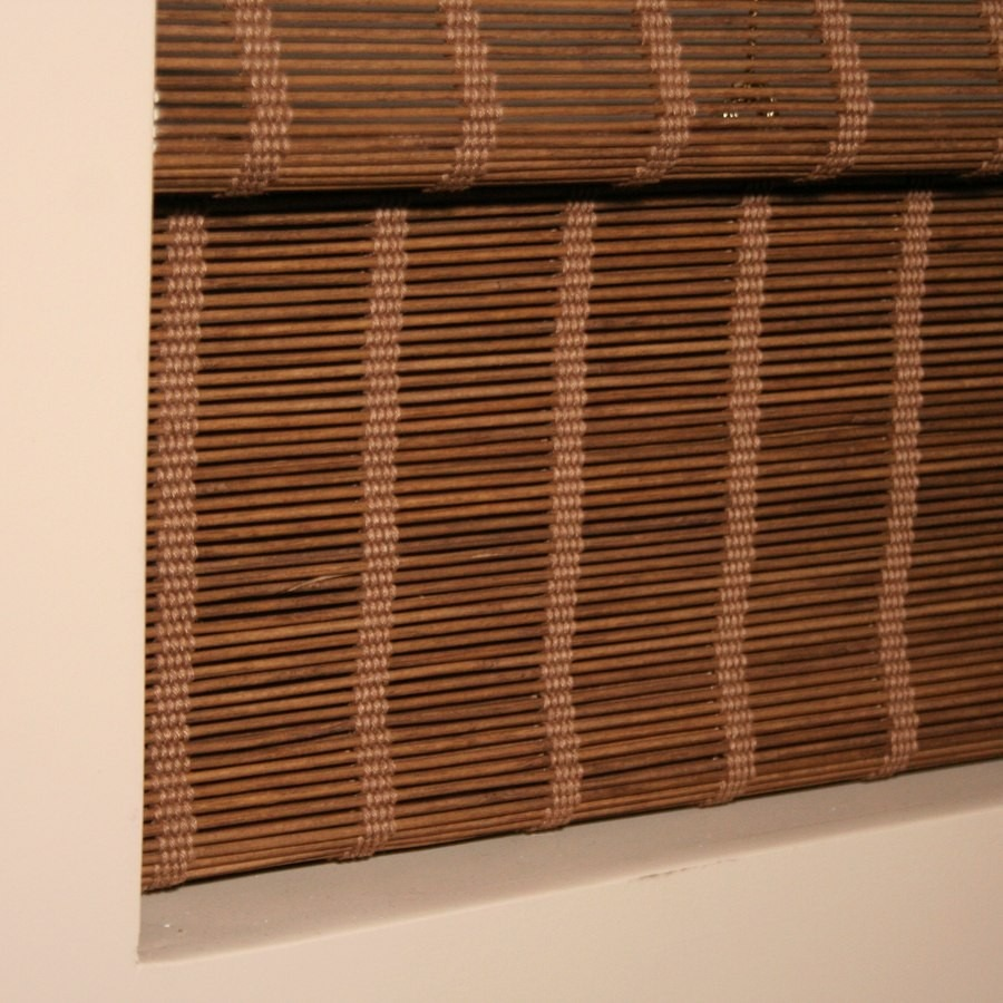 Persiana roman shade hawaii cortina bambu 80 x 160 cm moka for Cortinas de persiana