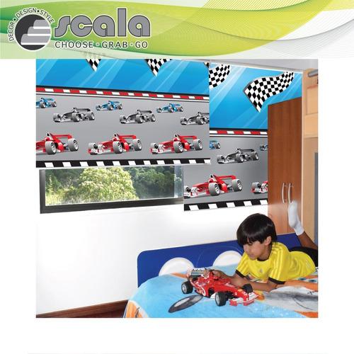 persiana scala roller blackout infantil 100 x 160 racing