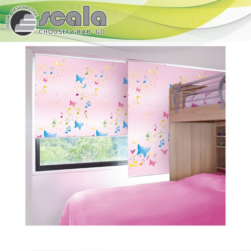 persiana scala roller blackout infantil 100x160 musical fan