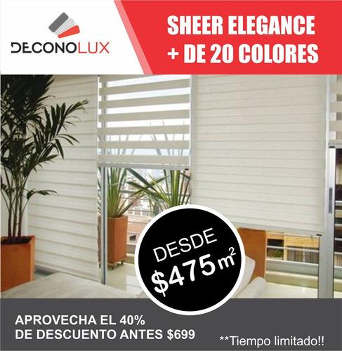 persiana sheer elegance aromo basica  $475 m2 envio gratis