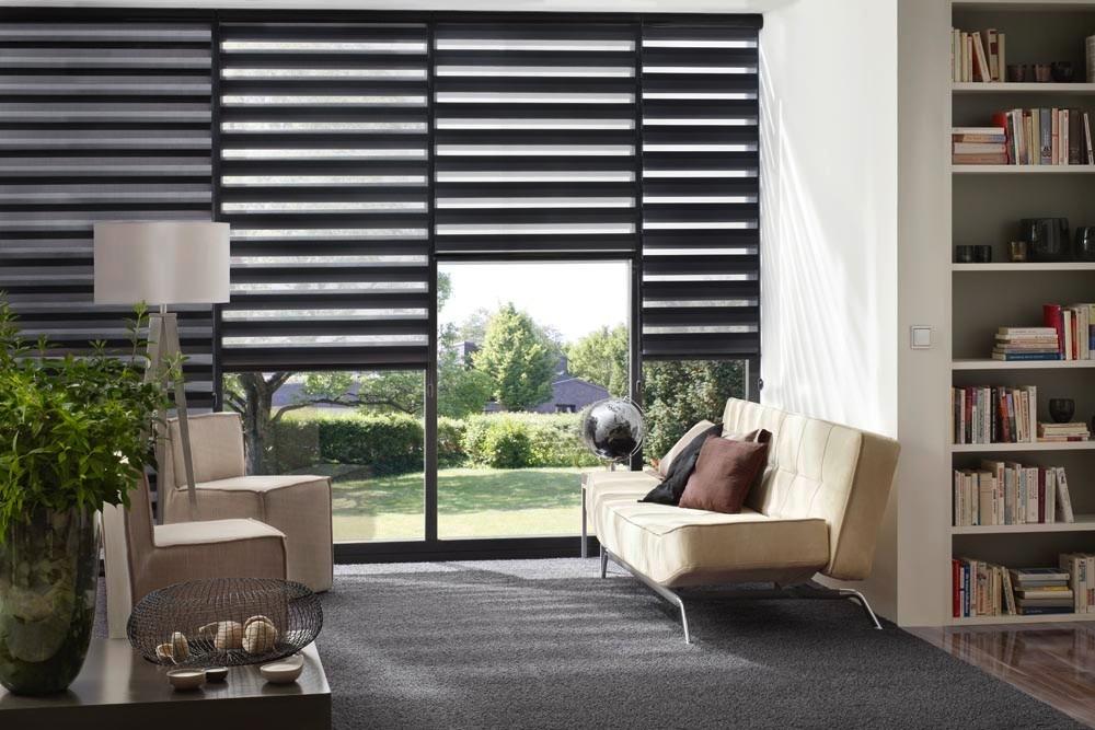 Persiana Sheer Elegance Negro Aluminio Env 237 O Gratis Msi