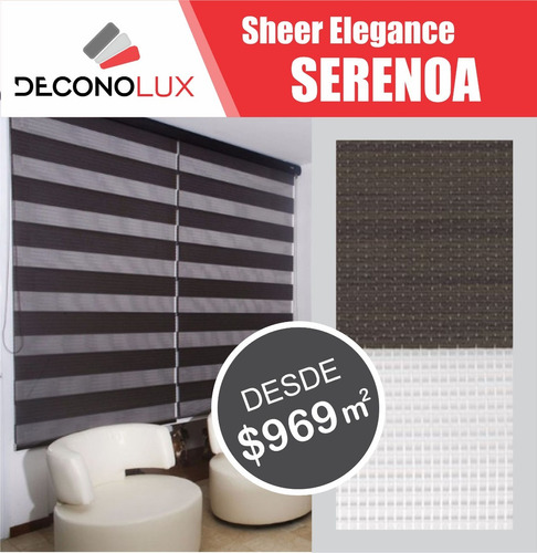 persiana sheer serenoa black out $799 m2 envio gratis!!