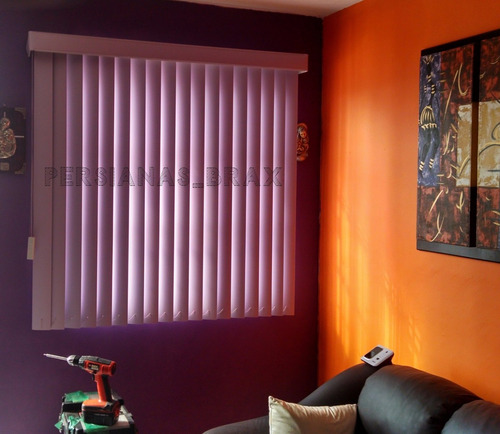 persiana vertical pvc liso con galería y envío gratis new