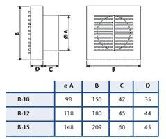 persianas exterior-s/ presión cata para salida extractor