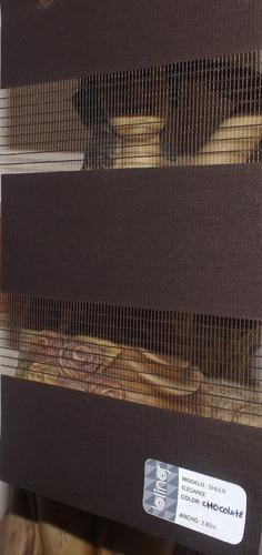 persianas sheer elegance con galeria forrada