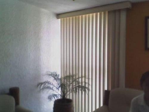 Persianas verticales de pvc liso a la medida con galeria - Como cambiar una persiana ...