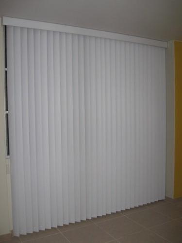 persianas verticales en  pvc  liso