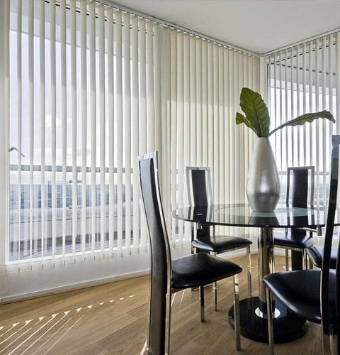 persianas verticales en pvc liso y texturizado