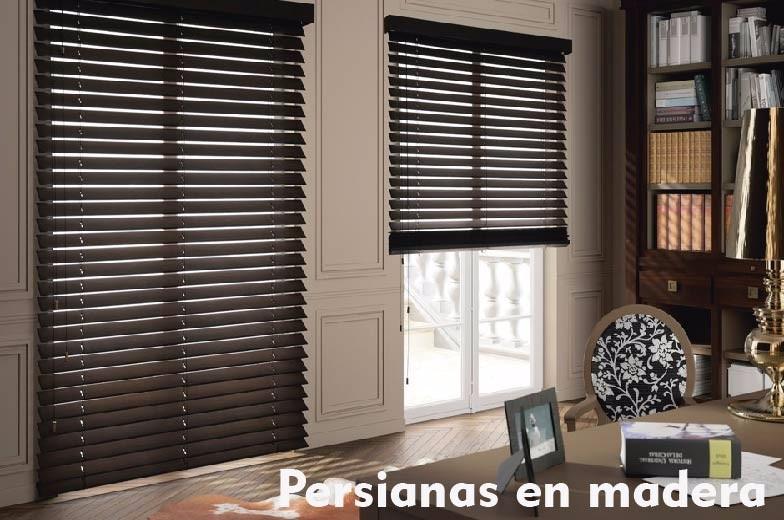 Persianas y cortinas sheer elegance panel blackout - Cortinas tipo persiana ...