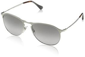 a966bd6ec1 Persol Gafas De Sol Para Hombre De Metal Plateado / Verde.
