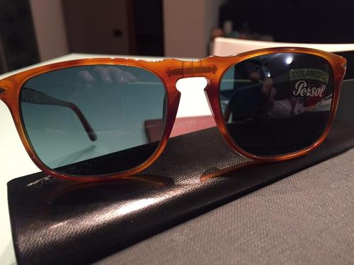 persol óculos de sol polarizado 3059s 96/s3 terra di siena