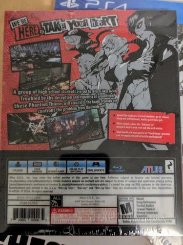 persona 5 steelbook launch edition - playstation 4