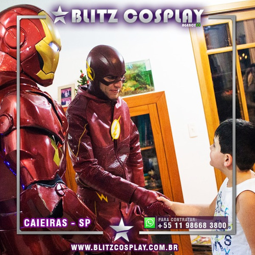 personagem vivo homem de ferro - exclusivo! whats(24)