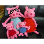 Peppa Pig,george Pig Y Papas Pig,muñecos Y Llaveros