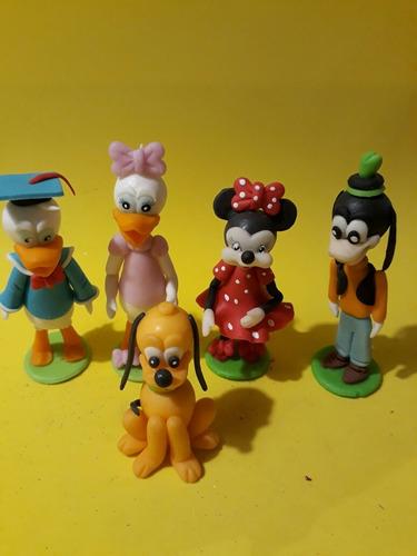 personajes de disney.set de 5.en porcelana fría