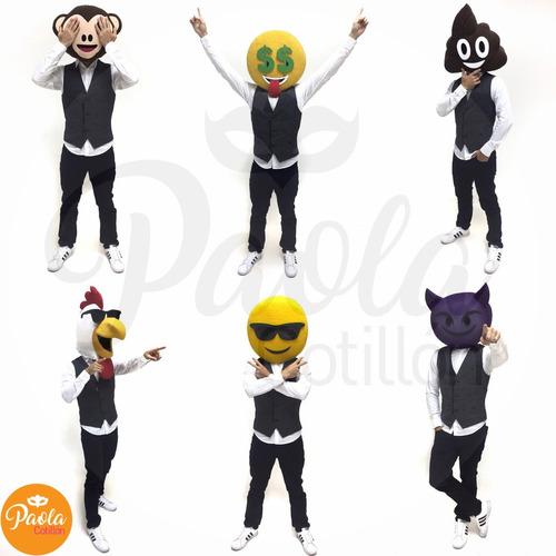 personajes emoji party de paola cotillón. evento hora loca