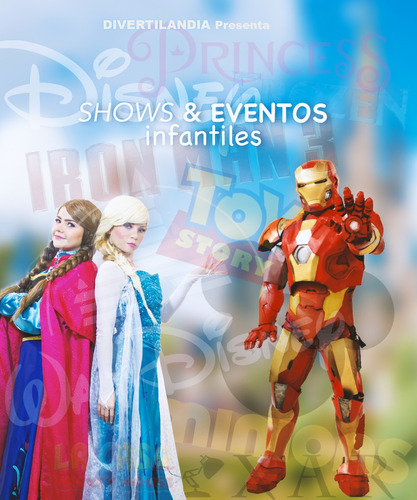 personajes fiestas eventos shows super héroes princesas