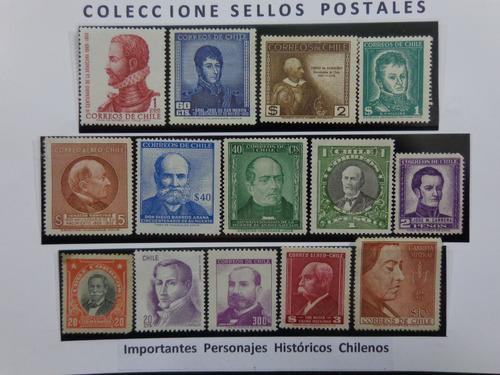 personajes históricos de chile - 14 sellos