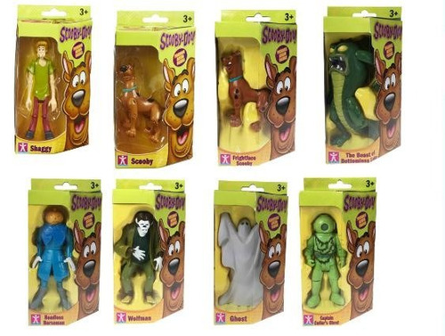 personajes scooby doo muñecos articulados x1 original intek