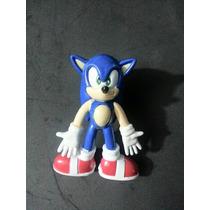 Figura Sonic Plástico Resistente Mide 9 Cm