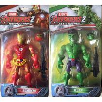 Muñecos Avengers Hulk, Iron Man, Spiderman, Superman