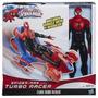 Spider Man Con Turbo Racer 3o Cm De Alto Hasbro