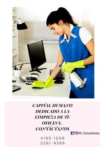 personal para limpieza de oficina, institución u hogar