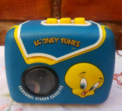 personal stereo looney tunes funcionando modelo exclusivo