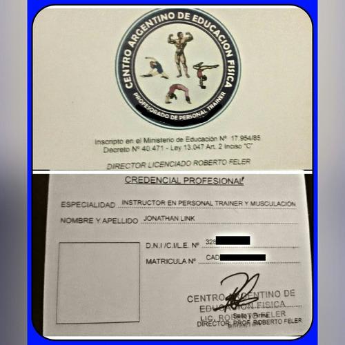personal trainer, en gimnasios, domicilio particular, $250