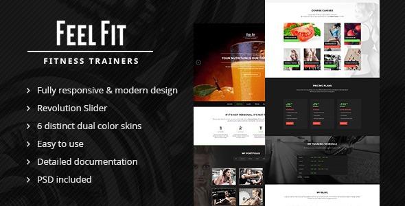 personal trainer one page html5 template r 25 00 em mercado livre