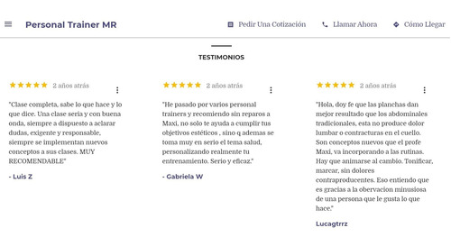 personal trainer - online