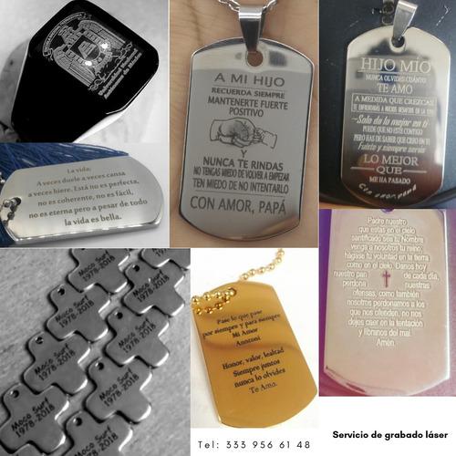 personaliza tus placas/collares/llaveros/ acero inoxidable