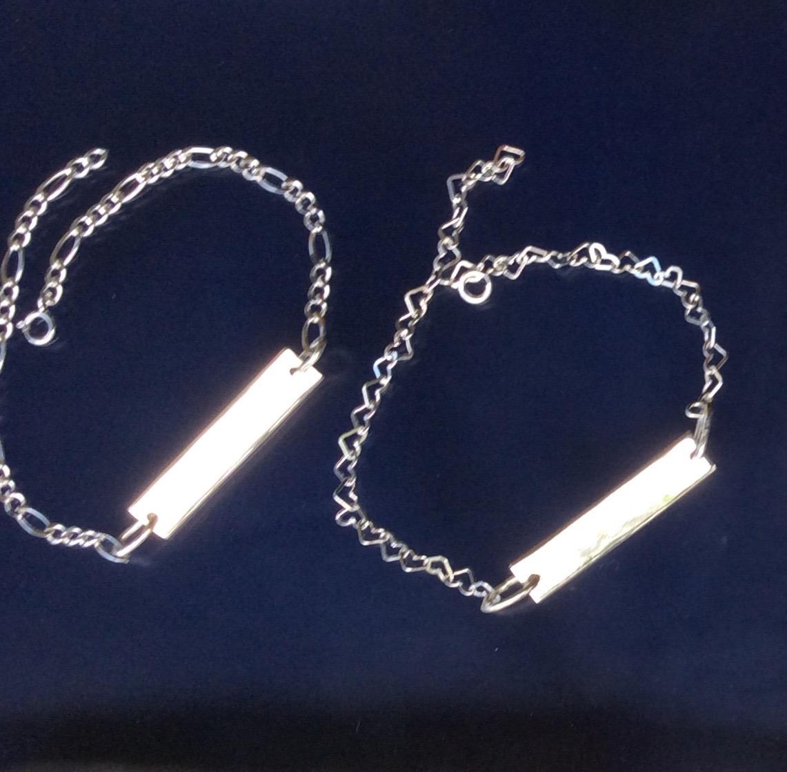 05f1d09e0653 personalizada par de pulsera corazón esclava pareja plata. Cargando zoom.
