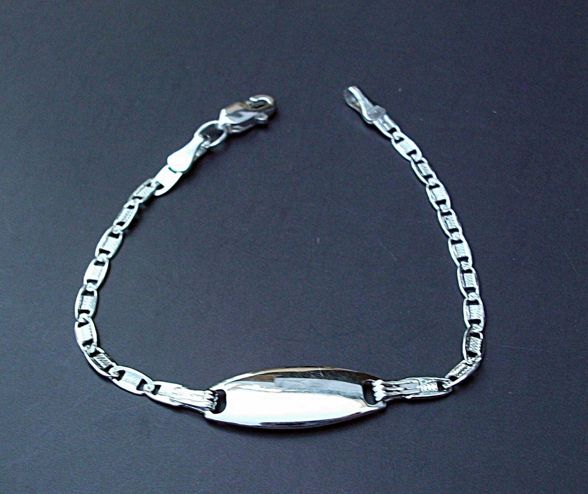dc6916f14627 personalizado esclava pulsera segura para niño bebé plata. Cargando zoom.