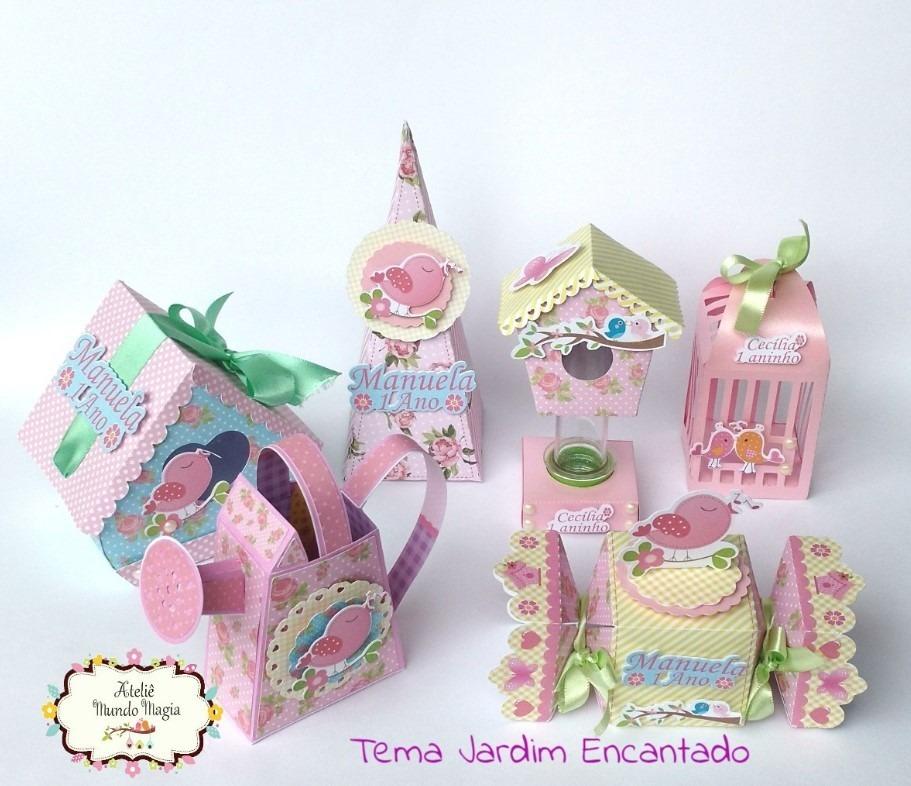 Personalizados De Festa Jardim Encantado Caixinhas 3d 36pcs R