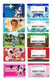 personalizar cartão do sus com desenhos
