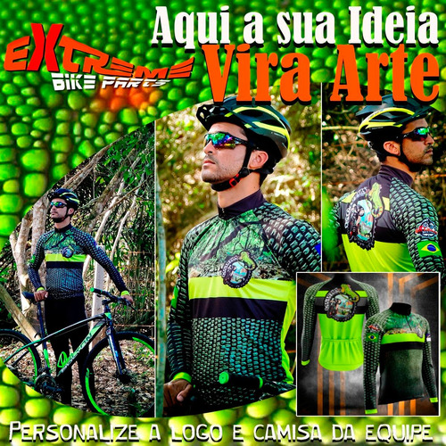 personalize a logo e a camisa da sua equipe de bike