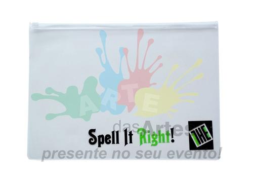 personalize com sua logo 100 pastas zip zap pvc a4 promoção!