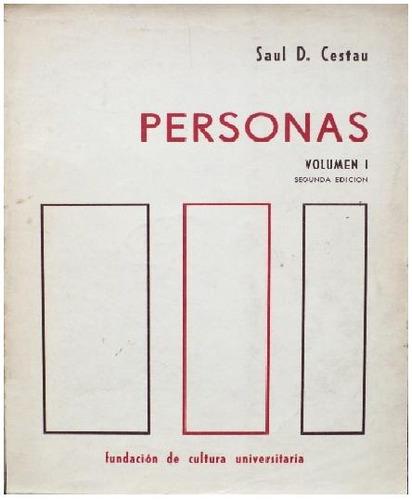 personas - saúl cestau - volumen 3 - cuarta edición - fcu