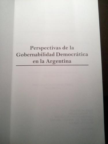 perspectivas de gobernabilidad demócratica en la argentina