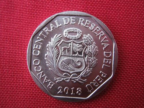 perú 1 nuevo sol 2018 conmemorativa:  jaguar