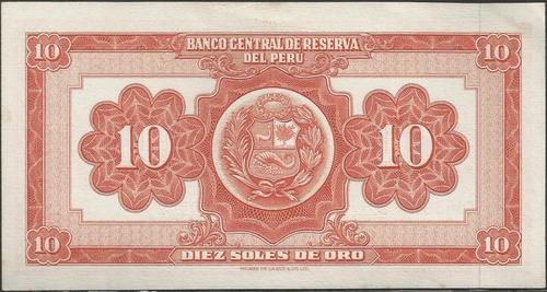 peru 10 soles 20 mar 1966 p84a
