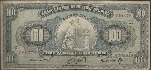 peru 100 soles  1 feb 1961 p79c