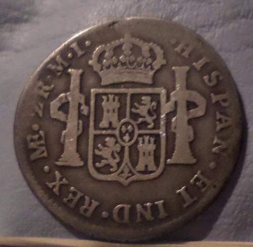 peru 2 reales 1781 e-mi b+