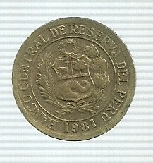 peru 5 soles de oro 1981
