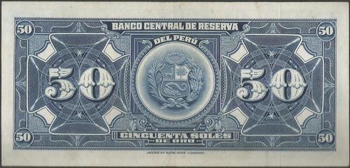 peru, 50 soles 20 ago 1965 p89a