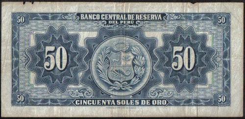 peru 50 soles  22 mar 1956 p78a