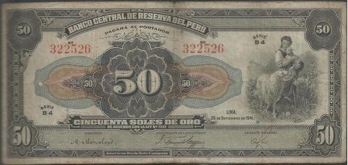 peru 50 soles 26 marzo 1941 p68aa