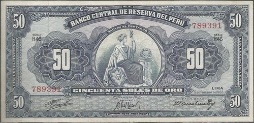 peru 50 soles 9 feb 1962 p85a